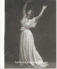 Isadora And Elizabeth Duncan In Deutschland / In Germany 1st ed/Dj 2000 Vg copy