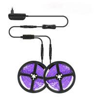 33FT LED UV Black Strip Light 12V Ultraviolet Flexible 600LEDs Purple Lighting