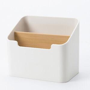 Plastic Desktop Storage Box Case Stationery Makeup Cosmetic Organizer Holder