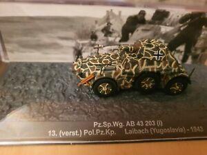 De Agostini Panzer Nr. 83 - 1/72 Pz.Sp.Wg. AB 43 Laibach yugoslavia   (141_500)