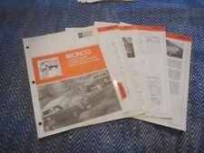 1975 FORD BRONCO DEALER ALBUM SALESMANS BROCHURE SHEETS SET RARE