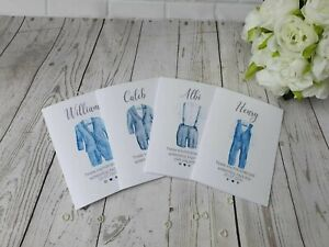 Personalised Page boy Thank you Card Page Boy / Ring bearer Card - Wedding