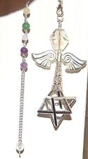 Very Large SP MERKABAH MERKABA Angel CHARIOT Grid Chakra Chain Pendulum WOW