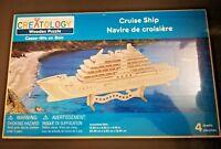 "Creatology Cruise Ship Boat 3D Wooden Puzzle Kids Craft Model 12"" x 3"" x 5"" NIP"