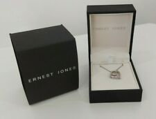 NEW -Ernest Jones- Sterling Silver 0.10 ctw Diamond Heart Pendant Love's Embrace