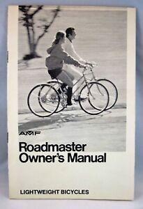 Vintage 1973 OWNER'S MANUAL AMF Roadmaster - 10 speed Bicycle