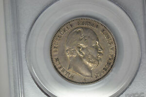 German States- Prussia: 1876-A 2 Mark- PCGS XF-40.