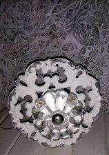 Poignée de meubles Bouton commode shabby blanc métal NOSTALGIE BORCANTE