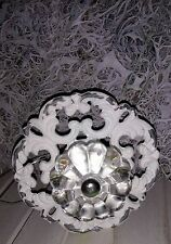 Furniture Knobs Chest of Drawers Handle Shabby White Metal Nostalgia borcante
