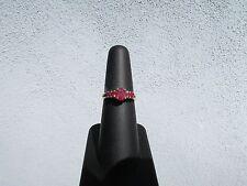 Ladies 14k Yellow Gold Natural Ruby Split Shank Ring .84 CTW Size 5.75-6.0