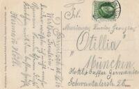 Ansichtskarte Garmisch-Partenkirchen Jahr 1916 verschickt nach München