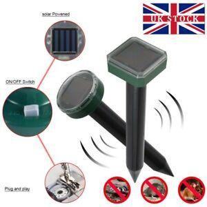 Ultrasonic Solar Power Rat Pest Mole Repeller Mouse Snake Garden Repellent 1/2/4