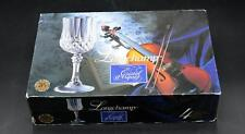 Set of 4 Cristal d'Arques 5 3/4 Ounce Crystal Wine Glasses - Longchamp - In Box