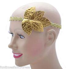 Ladies Grecian Goddess Gold Leaf Roman Toga Party Laurel Headdress Fancy Dress