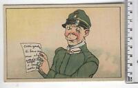 Cartolina Militare - Disegno di un soldato - 2180
