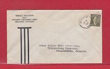 Ontario Creamery Assc. advetising cover 1952, George Vi Meaford duplex, Canada