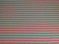 Print fabric(Merry Christmas zig zag)  Per Metre