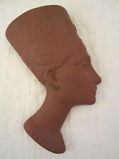KERAMIK WAND MASKE NOFRETETE BÜSTE KOPF SKULPTUR ÄGYPTEN WANDMASKE EGYPT PHARAO