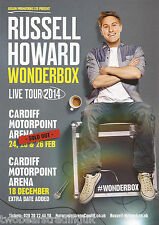 Event Promo Flyer: Russell Howard: Wonderbox (Motorpoint Arena, Cardiff, 2014)