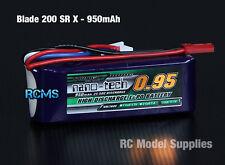 Nano Tech 950mAh 3S 11.1v 25-50C LiPo Blade 200 SRX 230S T-REX 250 EFLB8003SJ30