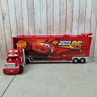 Disney Cars Large Lightning McQueen MACK Transporter Carry Case Storage