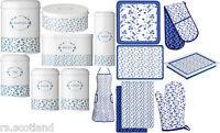 Blue Rose Kitchen Storage Tea,Coffee,Sugar Jars,BreadBin,Gloves &Accessories