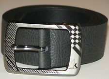 New Mens Black Leather Belt Size 32  -  81cm     (B106)