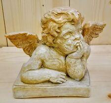"Classic Rare 10"" Raphael Angel Statue Cherub Sculpture Clearance"