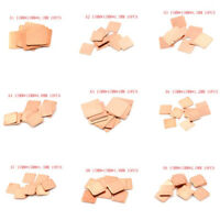 10PCS Laptop Copper Sheet Plate Strip Shim Thermal Pad Heatsink Sheet HF