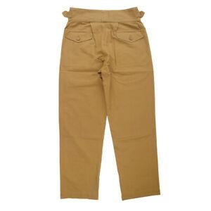 Vintage Gurkha Mens Casual Pants Army Bermuda Khaki Trousers Combat Cargo Pants