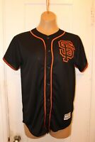 MAJESTIC San Francisco Giants Buster Posey #28 Black Jersey Youth Large Coolbase