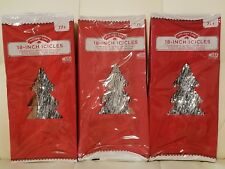 3 Boxes Of Silver Christmas Tree Icicles Tinsel