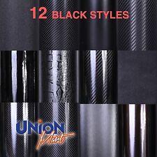 Black Vinyl Wrap Carbon Fibre 4D 3D Glossy Matte Velvet Chrome Sanded Brushed