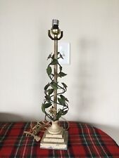 Vintage Hollywood Regency Italian Florentine Large Floral Tole Lamp needs TLC