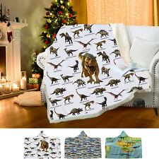 Winter Dinosaur Pattern Wear Cap Home Blanket Children's Blanket Hooded Shawl