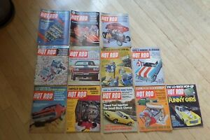 Vintage Hot Rod Magazine Lot of  12 Issues 1960s 1970s