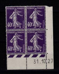 Coin daté N** / N* (3 timbres N*) YV 236 Semeuse (WW1044)