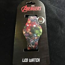 Marvel Avengers Iron Man Thor Hulk light LED Rubber Watch Adjustible Brand New