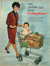 PUBLICITE ADVERTISING 114  1961  CELLOPHANE  emballage alimentaire