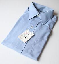 VTG 1950s 60s NOS Brooks Brothers BrooksCloth Cotton Blend Blue Shirt USA 15-2