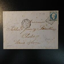 NAPOLÉON No.22 LETTER COVER LOZENGE HP1° WITH STAMP TEST OCTAGONAL 1ére DATE
