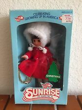 Vintage 1982 Sunrise in America Doll Christmas In Box With Charm Bracelet