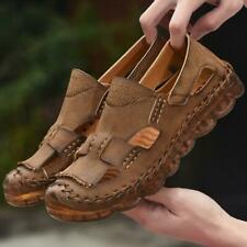 Mens Leather Summer Beach Roman Sandals Oxfords Casual Breathable Sport Shoes