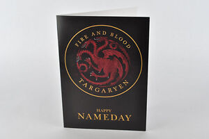 Happy Nameday Card! House Targaryen, Game of Thrones, Daenerys, Khaleesi tyrion