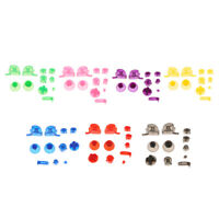 7 Set ABXYZ Buttons Cap + Thumbsticks Chrome D-pad Mod for Nintendo GameCube