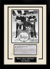 Paul McCartney Facsimile Signed Autographed Personal Check Framed 8x10 Display