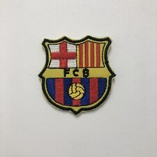 FCB FootBall Club Barcelona  Embroidered Patch Iron on Sew On Badge