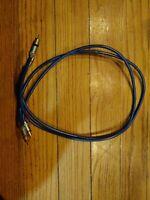 AudioQuest Turquoise x2 Hyperlitz RCA Phono Leads audio interconnect cables 1 m