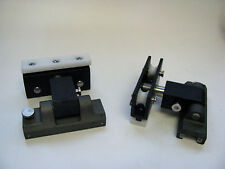 PAIR OF Genoa Track Cars W/ Double Sheave & Stop, detachable