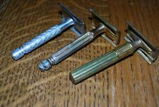3 VINTAGE GILLETTE SAFETY RAZORS FATBOY USA AND MEXICO